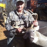 Massive buck taken by Benny Owens in 2010.  Weighed in at 205lbs.