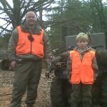 Jalon & Daniel Bullock (son of John) with an eight point Jalon harvested.