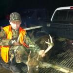 Daniel Bullock with a buck taken by his dad, John Bullock.