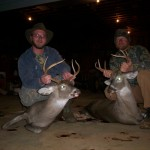 Will Coleman and John Bullock with a couple of Dry Creek bucks.