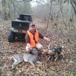 Justing Watson (AKA: Candyman) took a nice doe as the beagles pushed her across a popular crossing on Hatchie Channel.