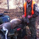 Sam Farris took a nice doe on opening morning of November 17th.  Congrats Sam! Love to see these young hunters on the property.