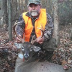 Mike Palmer bagged a real nice buck on the club on the morning of November 23rd.  If you look at the Game Cam gallery, you'll notice several pictures of this buck in full velvet posted back in September.