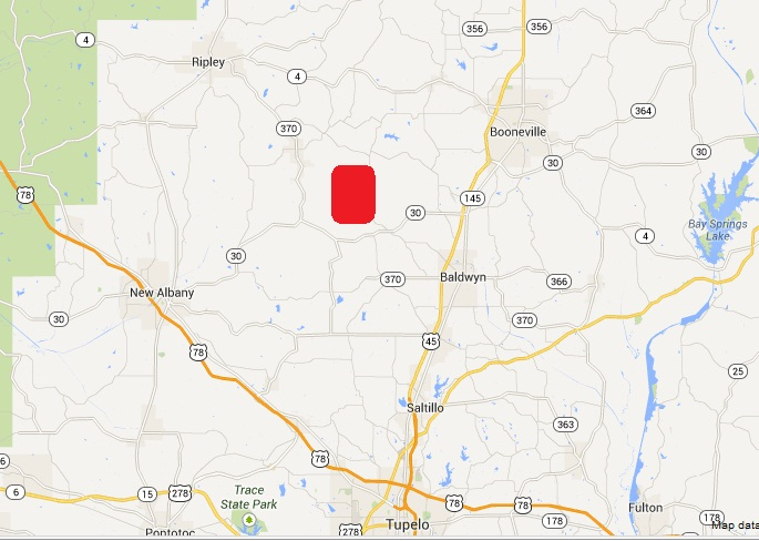 —The property is located approximately 15 miles northeast of New Albany, MS and approximately 8 miles northwest of Baldwyn, MS.