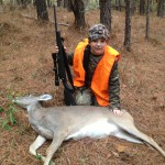 Winner of the 2013 Youth Day Contest, Braden Cobb with his 90lb doe!