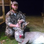 Will Coleman with one of several bucks he took during the 2013-2014 season.