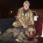 Chris Burks with his first ever hog.  Nice oinker!