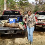 Kate bagged a nice doe during the 2014 Youth Day event.