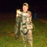 Konner Bullock bagged a small oinker during mid bow season.