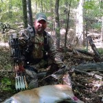 Lee Bullock with a doe taken on opening weekend of bow season.