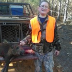 Mikey Bedford took this young hog with a knife near the end of the 2014-2015 deer season. Wow!