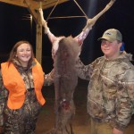 Robin Towery bagged her first ever deer!  Way to go Robin!