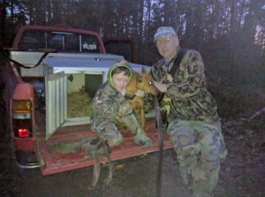 Max, Scout and his papaw Lannia.